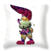Sax Man Throw Pillow by Marvin Blaine