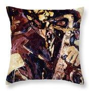 Sax Man One Throw Pillow