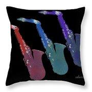Saxophone 55k Throw Pillow