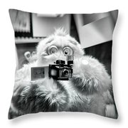 Say Abominable Throw Pillow by Scott Wyatt