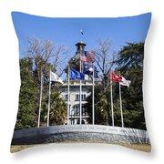 Sc Veterans Monument Throw Pillow