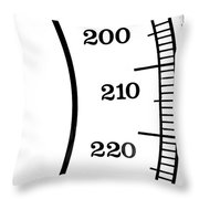 Scale Numbers Throw Pillow