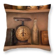 Scale - The Family Scale Throw Pillow by Mike Savad