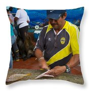 Scaling Fish In The Galapaogs Throw Pillow