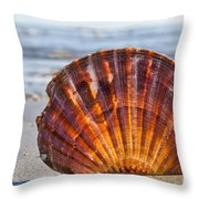 Scallop Shell 2 Throw Pillow