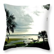 Scallop Waters Throw Pillow