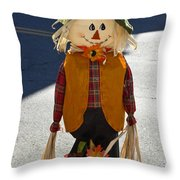 Scarecrow 4 Throw Pillow