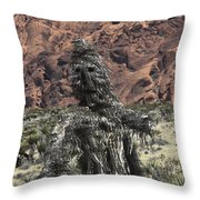 Scarecrow Cactus Throw Pillow