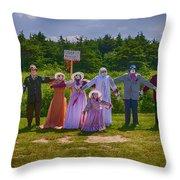 Scarecrow Wedding Throw Pillow