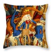 Scarecrows Throw Pillow