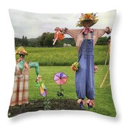 Scarecrows Throw Pillow