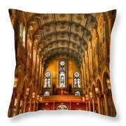 Sacred Heart Cultural Center 2 Throw Pillow