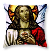 Scared Heart Of Jesus Throw Pillow