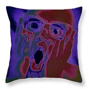 Scared Silly Throw Pillow