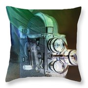 Scarf Camera In Negative Throw Pillow