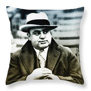 Scarface - Al Capone Throw Pillow