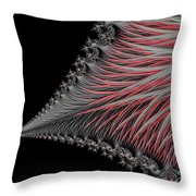 Scarlet And Gray Throw Pillow