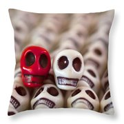 Scarlet And White Throw Pillow
