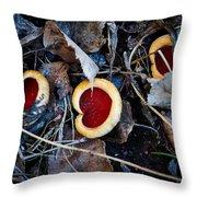 Scarlet Elfcup Throw Pillow