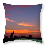 Scarlet Fire Throw Pillow