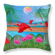 Scarlet Party - Limited Edition 1 Of 20 Throw Pillow