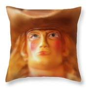 Scary Cowgirl Throw Pillow