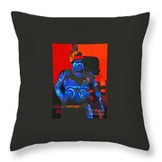 Scary Fella Throw Pillow
