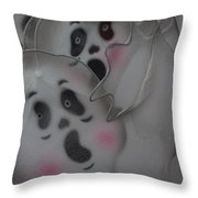 Scary Ghosts Throw Pillow