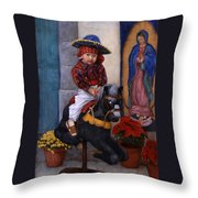 Scary Ride At Guadalupe Festival Throw Pillow