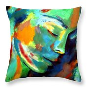 Scattered Particles Throw Pillow
