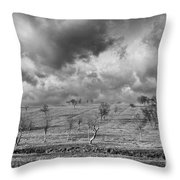 Scattered Trees Throw Pillow