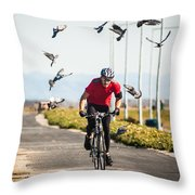 Scattering The Pigeons Throw Pillow