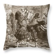 Scene At The Relief Of Lucknow Throw Pillow