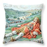 Scene From Gullivers Travels Throw Pillow