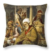 Scene In A Cafe, 1865 Throw Pillow