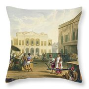 Scene In Bombay, From Volume I Throw Pillow