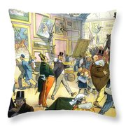 Scene In The Louvre 1911 Throw Pillow