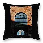Scene In The Old City, London Throw Pillow