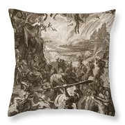 Scene Of Hell, 1731 Throw Pillow