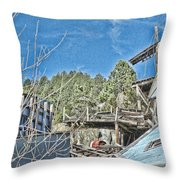 Scenes From An Abandoned Factory In South Dakota 2 Throw Pillow