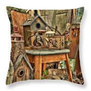 Scenes From An Outside Sale Throw Pillow
