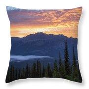 Scenes From Climbing  Mount Geraldine Throw Pillow