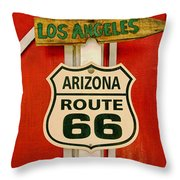 Scenes On Route 66 Throw Pillow