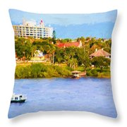 Scenes On The Water Throw Pillow