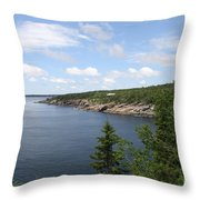 Scenic Acadia Park View Throw Pillow
