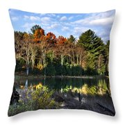 Scenic Autumn At Oakley's Throw Pillow by Christina Rollo