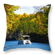 Scenic Autumn Viewing Throw Pillow