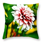 Scenic Bouquet Throw Pillow