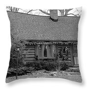 Scenic Cabin Throw Pillow