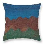 Scenic Mountains Throw Pillow